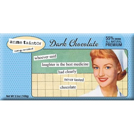 Bloomsberry Laughter Is Best Chocolate Bar 3.5 Ounce Dark Chocolate Bars, (Pack of