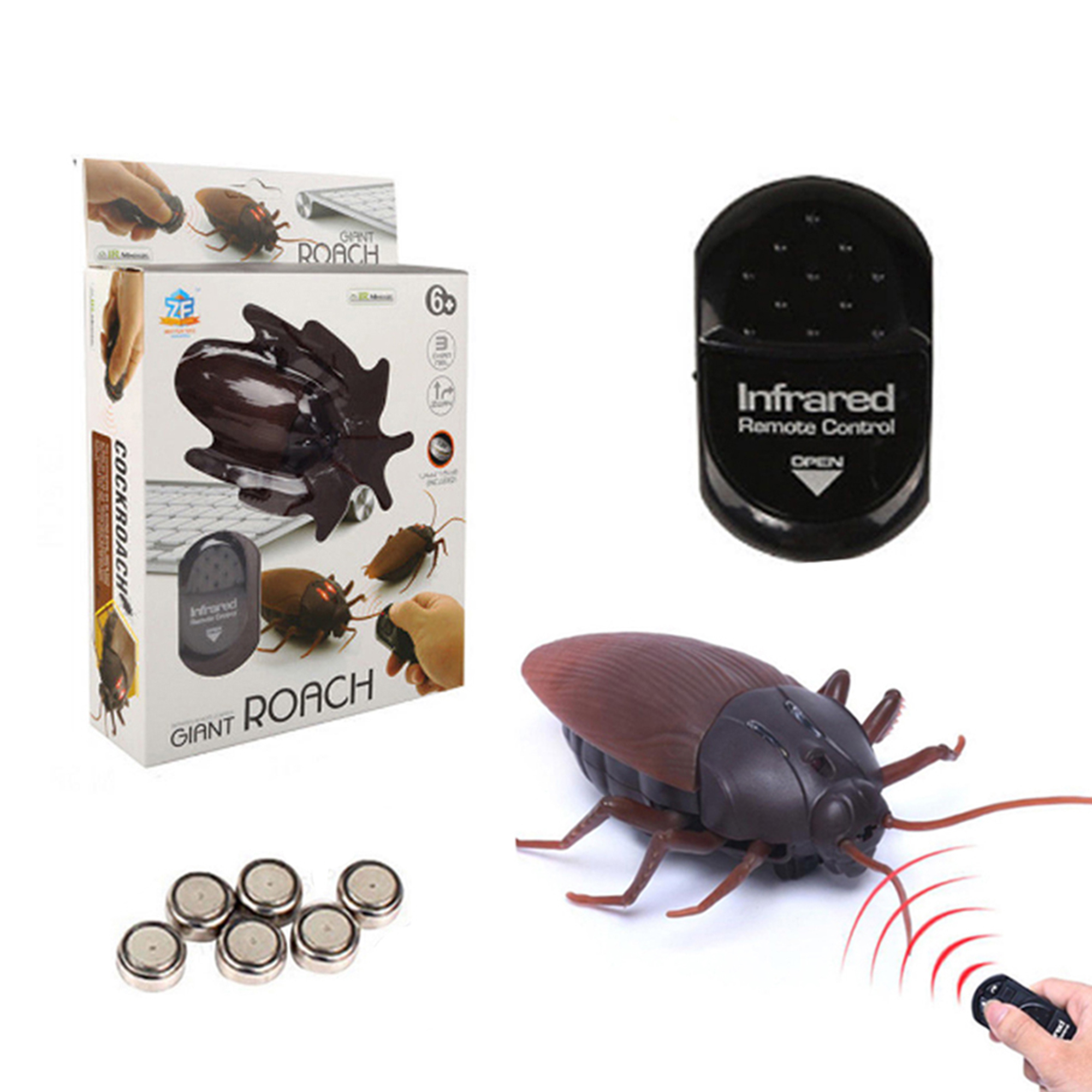Deago Infrared Remote Control Fake Cockroach RC Toy Prank Insect Scary Trick Bugs for Party