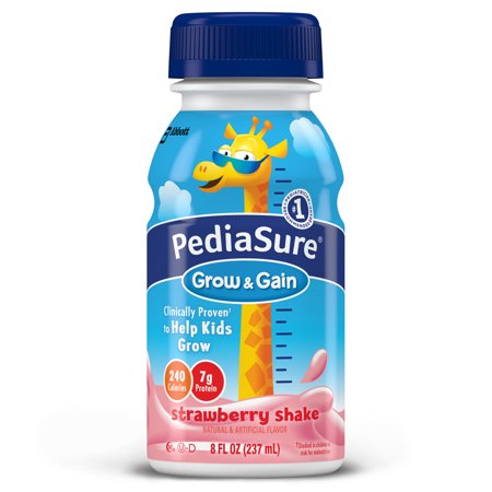 PediaSure Grow & Gain Nutrition Shake For Kids, Strawberry, 8 fl oz (Pack of 24)