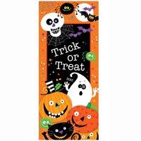 Plastic Trick or Treat Halloween Door Poster, 5 x 2.25ft