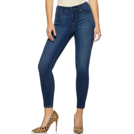 Sofia Jeans by Sofia Vergara Women's Sofia Mid-Rise Skinny Ankle Jeans
