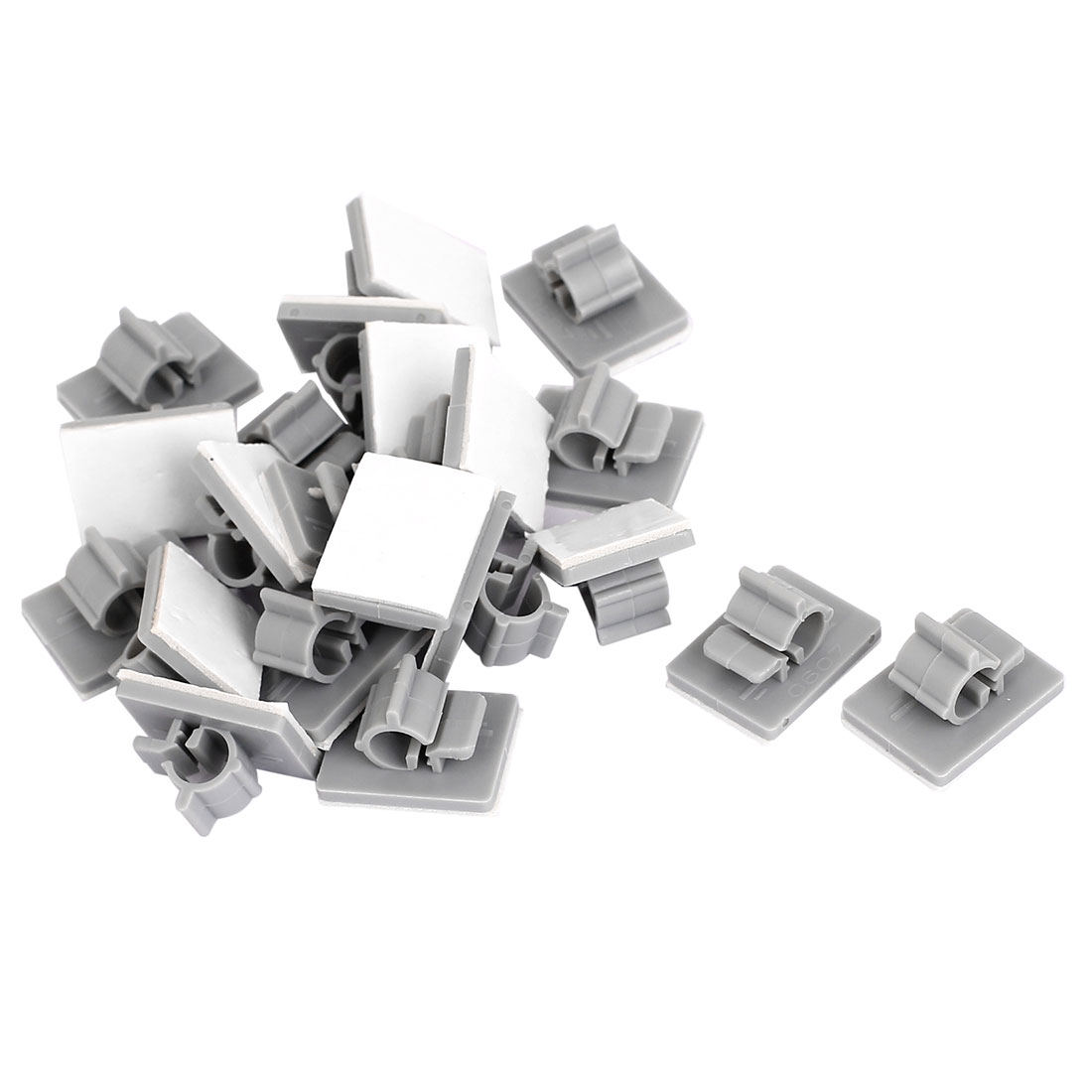 22 Pcs Gray Adhesive Backed Cord  Management Clips Clamps for 6-7mm Cable