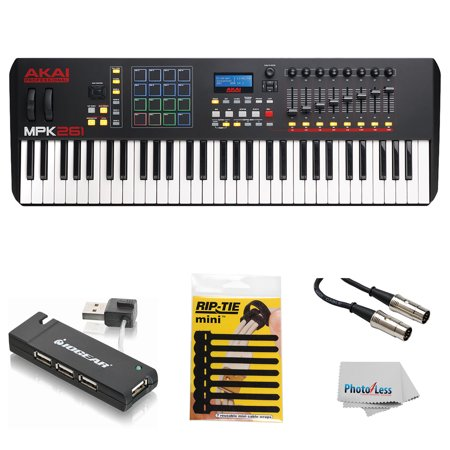 akai professional mpk261 61 key usb midi keyboard drum pad controller with lcd screen 16. Black Bedroom Furniture Sets. Home Design Ideas