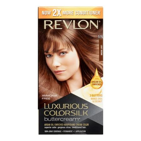 Revlon Luxurious ColorSilk Buttercream Hair Color, Light Brown