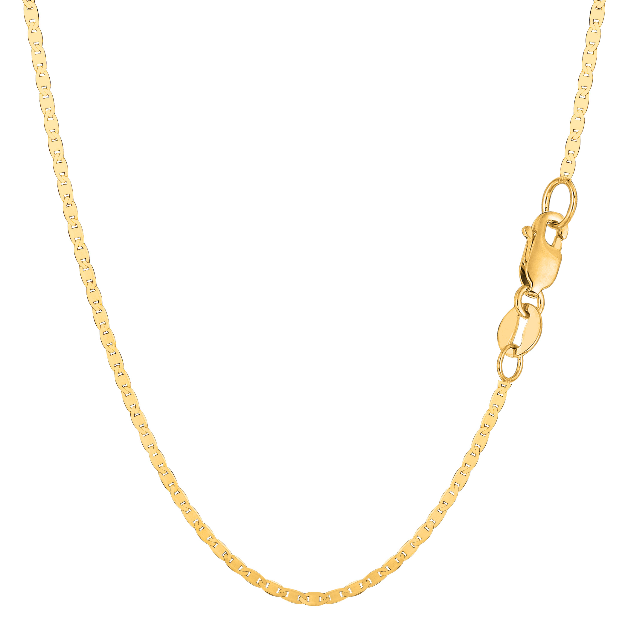 "14k Yellow Gold Mariner Link Chain Necklace, 1.7 mm, 16"" - image 1 of 1"