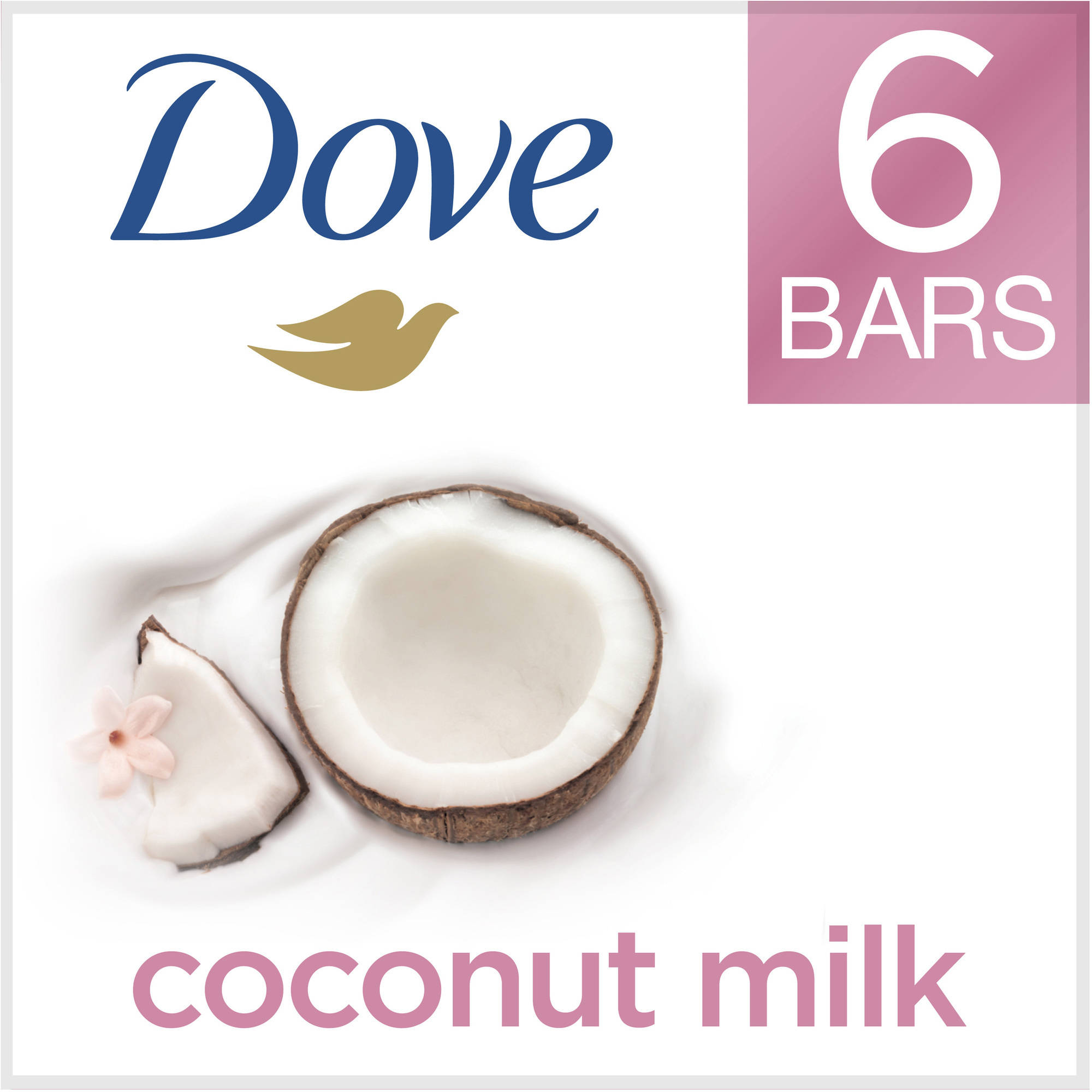 Dove Purely Pampering Coconut Milk Beauty Bar, 4 oz, 6 Bar