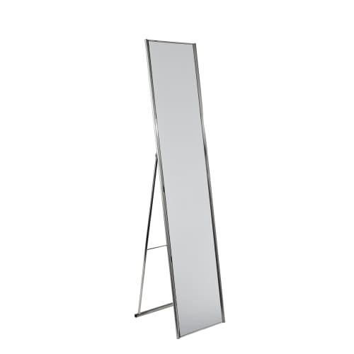 Adesso Alice Floor Mirror, Champagne Steel