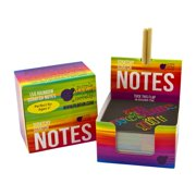 Rainbow Scratch Off Mini Notes + 2 Stylus Pens Kit: 150 Sheets of Rainbow Scratch Paper for Kids Arts and Crafts, Airplane or Car Travel Toys - Cute Unique Gift Idea for Kids, Girls, Women