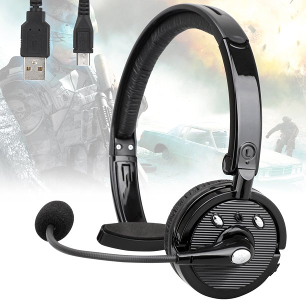 Universal Bluetooth Headset With Mic Tsv Truck Driver Wireless Headset Hands Free Phone Headphones Over Head Noise Cancelling Earpiece For Iphone Cell Phone Office Driving Truck Driver Call Center Walmart Com Walmart Com