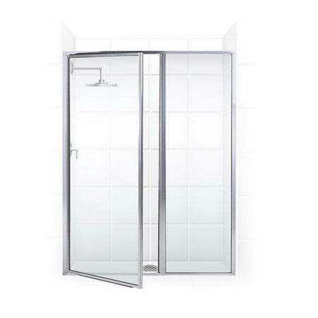 Coastal Shower Doors Legend Series 37\'\' x 69\'\' Hinged Framed Shower ...