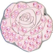 Bella Crystal Golf Ball Marker & Hat Clip - Pink Rose