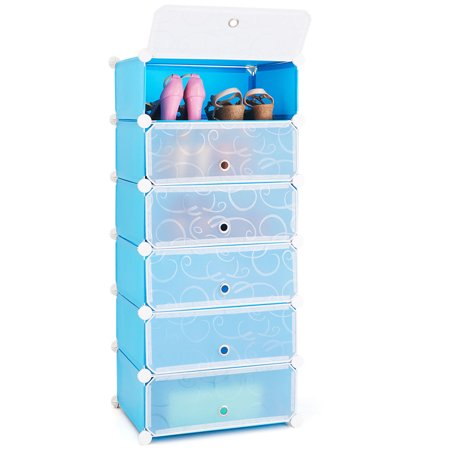Costway 6 Cubic Portable Shoe Rack Shelf Cabinet Storage Closet Organizer Home Furniture ()