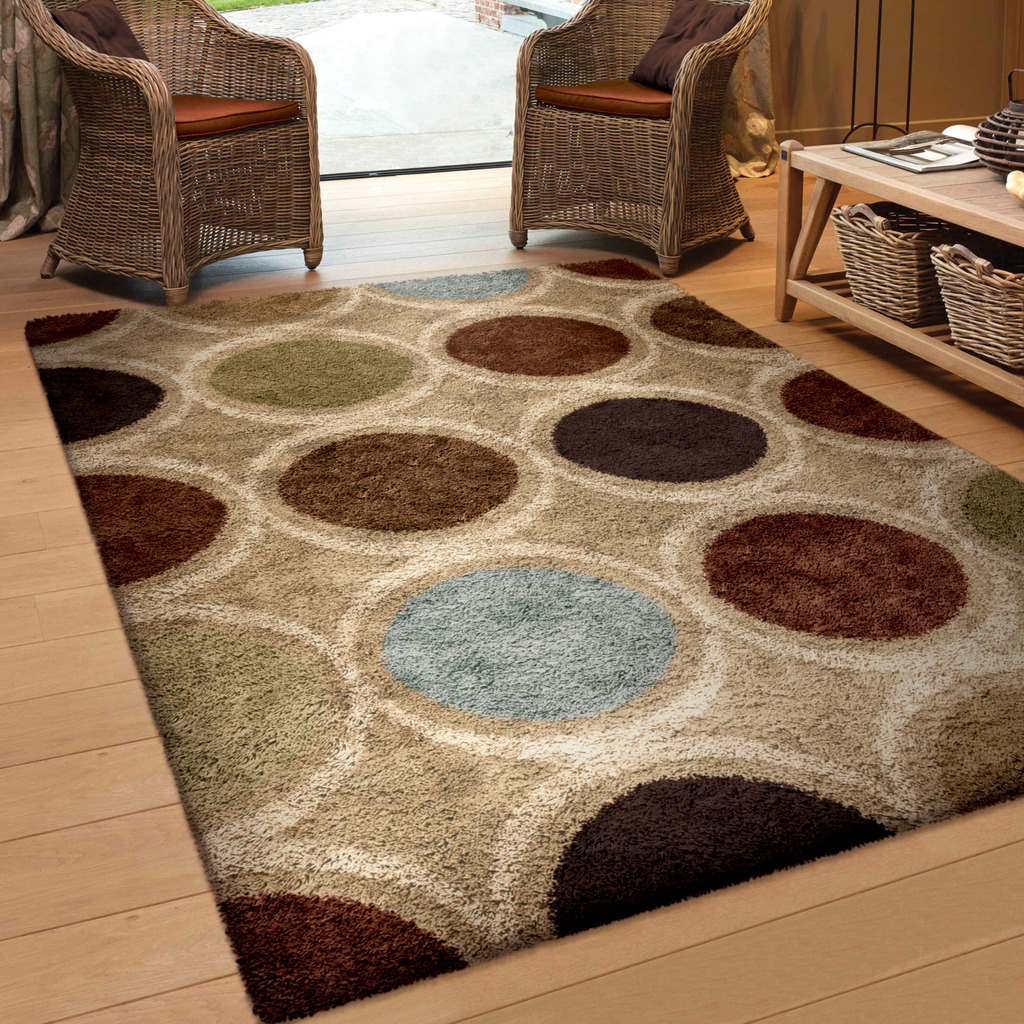 Orian Rugs Soft Shag Marble Multi-Colored Area Rug