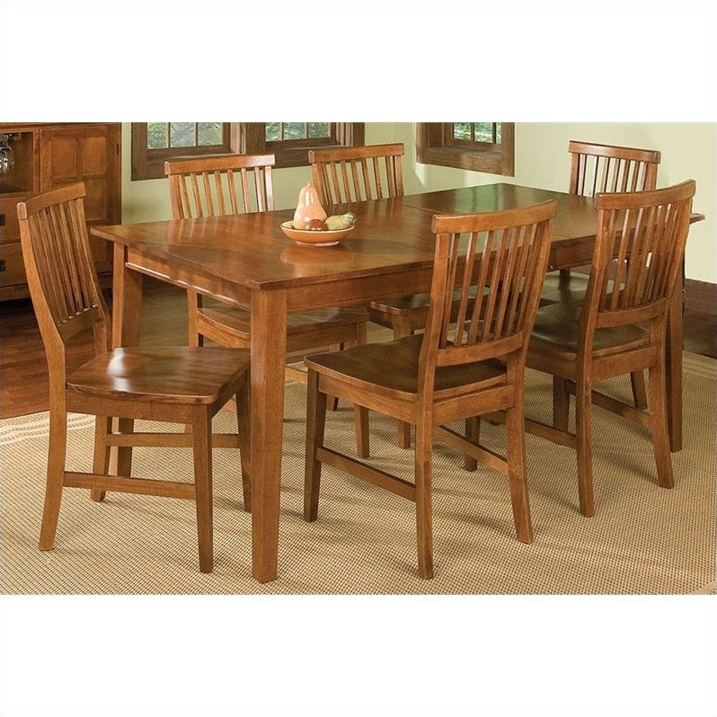 Home Styles Arts and Crafts 7 Piece Dining Room Set in Cottage Oak by Home Styles