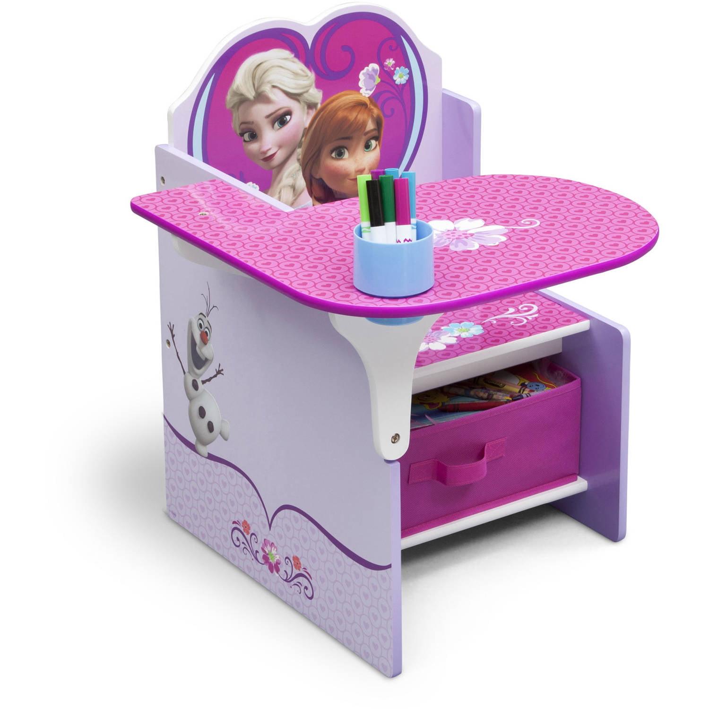 Delta Children Frozen Chair Desk with Storage Bin Walmart
