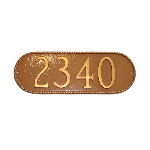 Montague Metal Products Inc. Rope Oblong Address Plaque