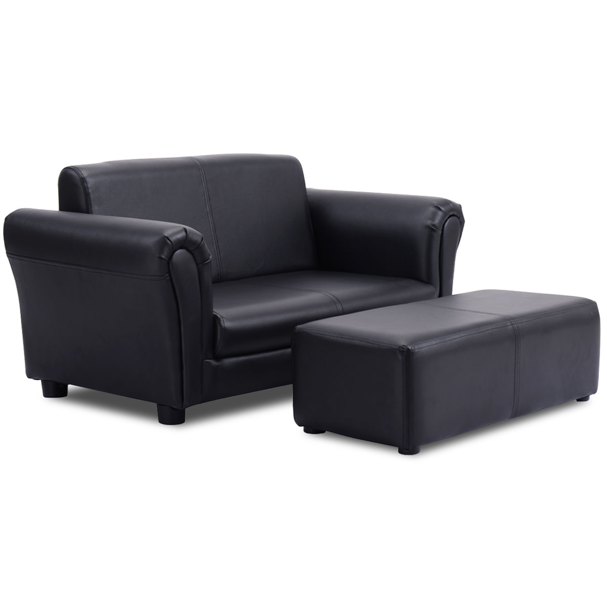 Great Costway Kids Sofa Armrest Chair Couch Lounge In Black
