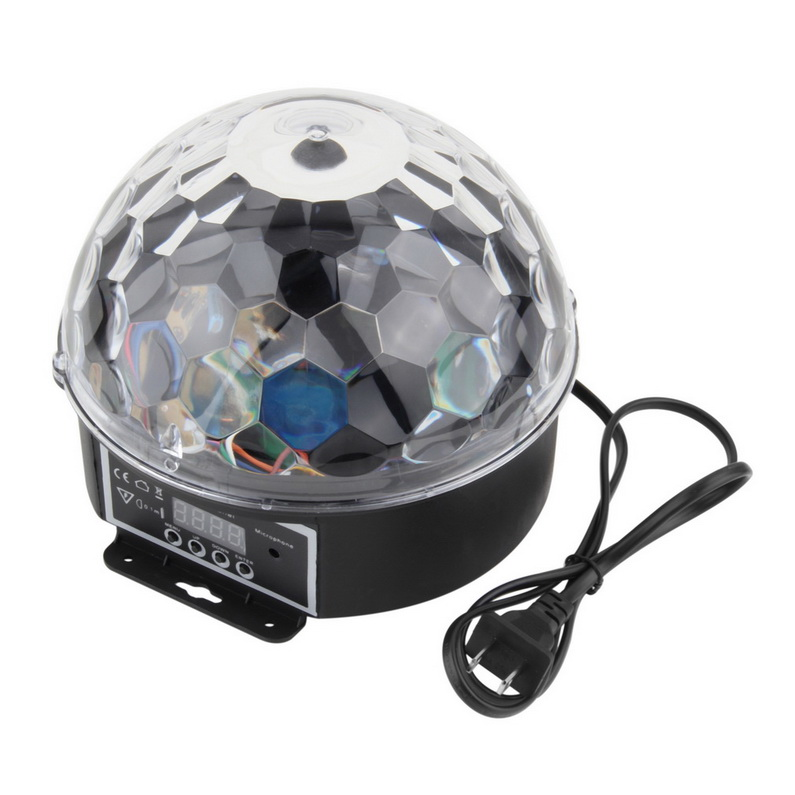 6 Colors LED Crystal Magic Ball Effect Light Disco DJ Stage Party by Generic