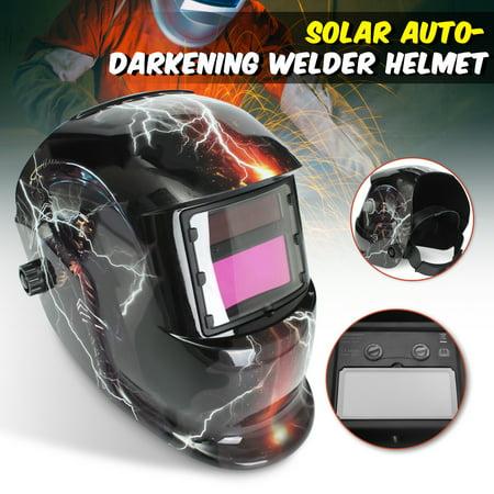 Skull Ghost+Lightning Pro Solar Welder  3 Lens Mask Helmet Auto-Darkening Welding (Green Welders Lens)
