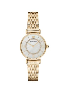 Emporio Armani Women's Retro Mother of Pearl Stainless Steel Watch