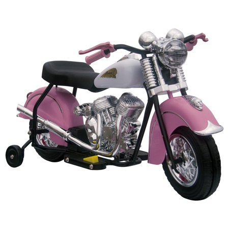 Little Vintage Indian Motorcycle Ride-On, Pink