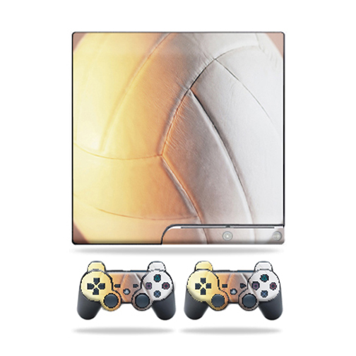 Mightyskins Protective Vinyl Skin Decal Cover for Sony Playstation 3 PS3 Slim skins + 2 Controller skins Sticker Volleyball