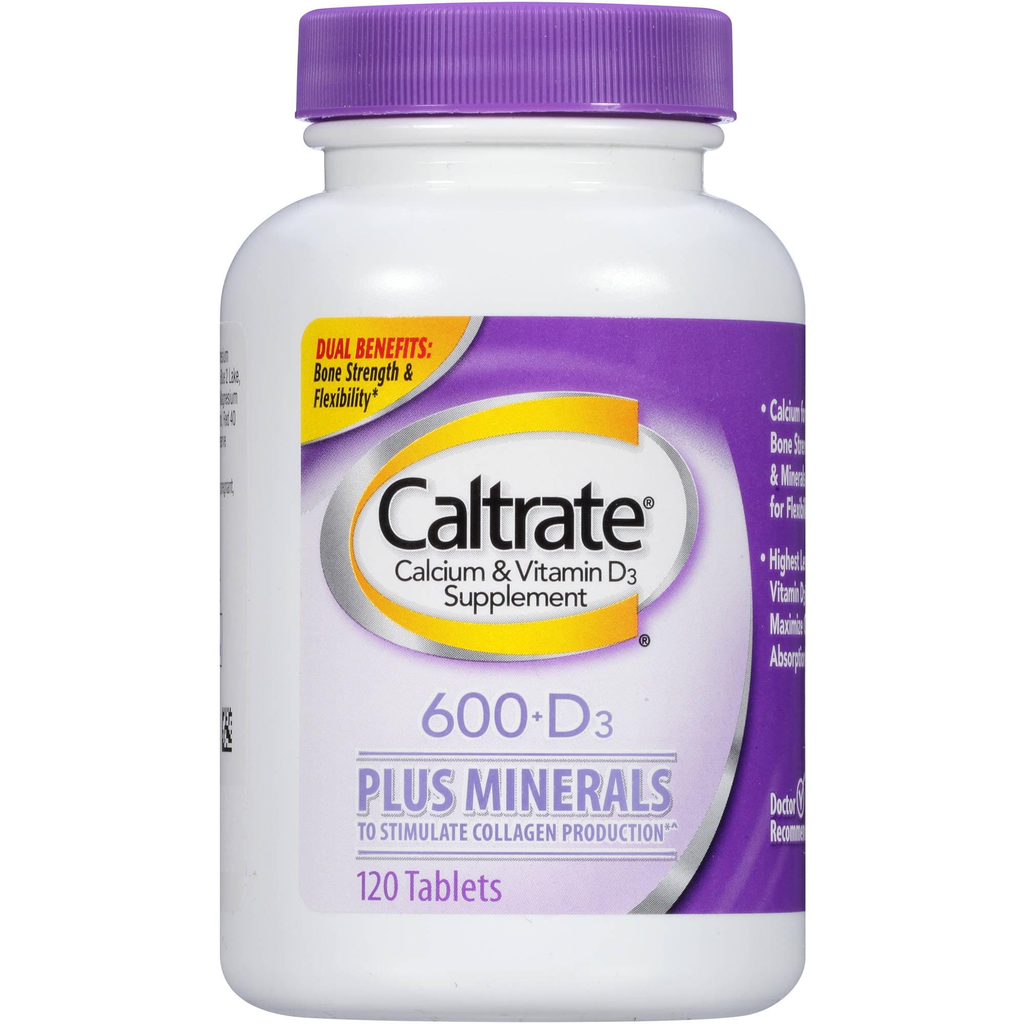 Caltrate 600+D Plus Minerals, 120ct