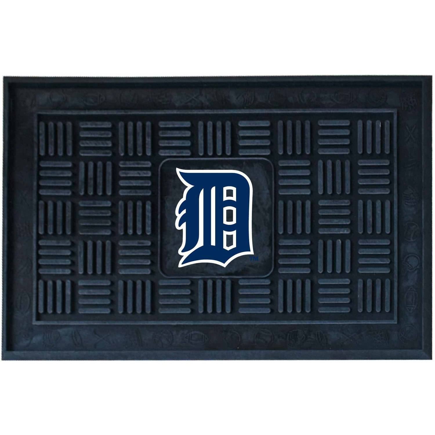 MLB Detroit Tigers Medallion Door Mat