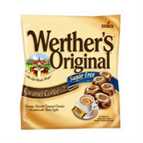 Werthers Original Sugar Free Caramel Coffee Hard Candy 12 pack (2.75oz per pack) (Pack of 6)