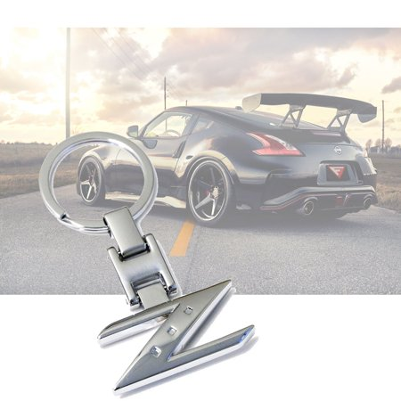 - Xotic Tech Z Shape Metal Chrome Sporty Style Keychain Key Chain FOB Ring for Nissan Cars