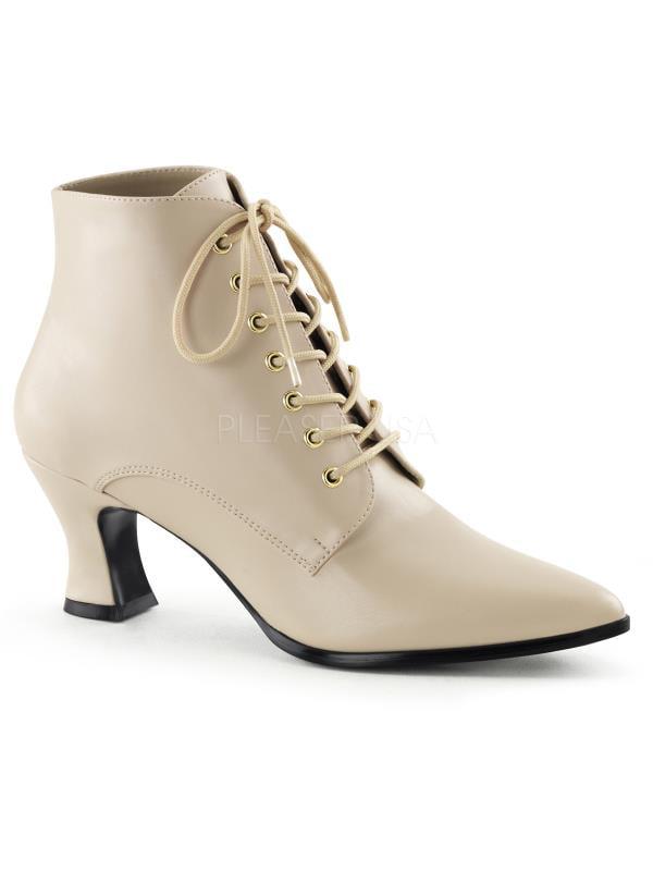 VIC35/CRPU Funtasma Women's Boots Cream Pu Size: 10