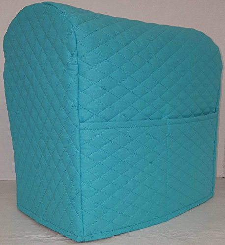 Penny's Needful Things Quilted Cover Compatible with Kitchenaid Stand Mixer (Aqua Blue, 4.5,5,6qt Lift Bowl)