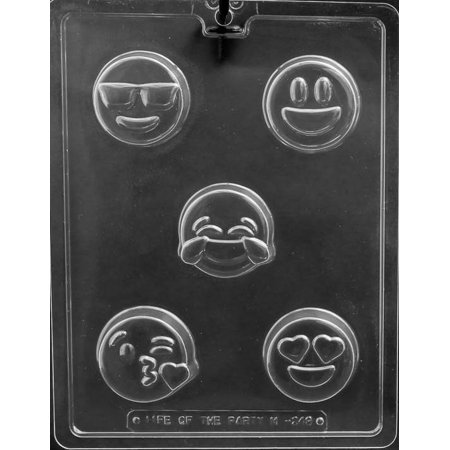Emoji Cookie Chocolate Mold - M249 - Includes Melting & Chocolate Molding Instructions