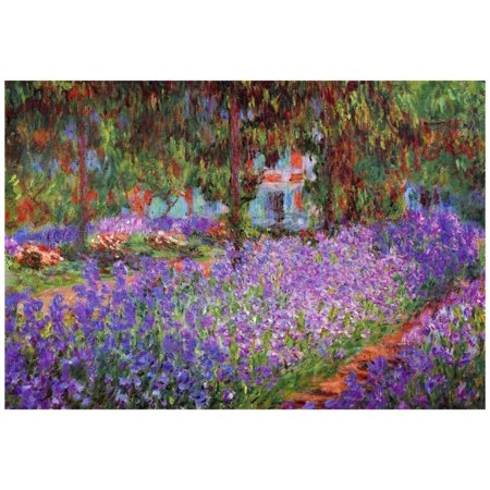 Claude Monet (Garden at Giverny) Art Print Poster - 19x13 (Giverny Monet Museum)