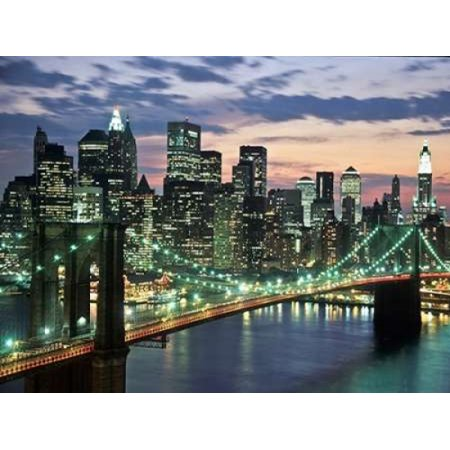 Brookyn bridge and Downtown skyline NYC Poster Print by  Michel Setboun](Dream Downtown Nyc Halloween)