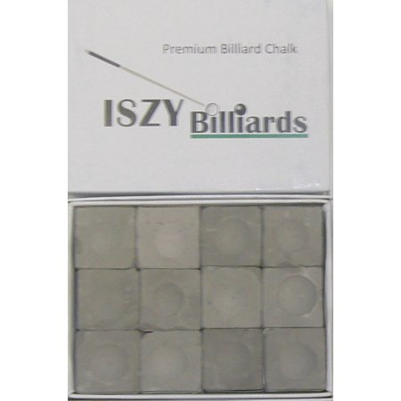 Premium Billiard Stick Pool Cue Chalk Charcoal Gray Quantity 12 Pieces