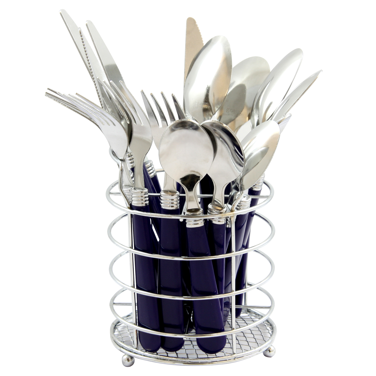 Gibson Home Sensations II 16-Piece Flatware Set with Wire Caddy