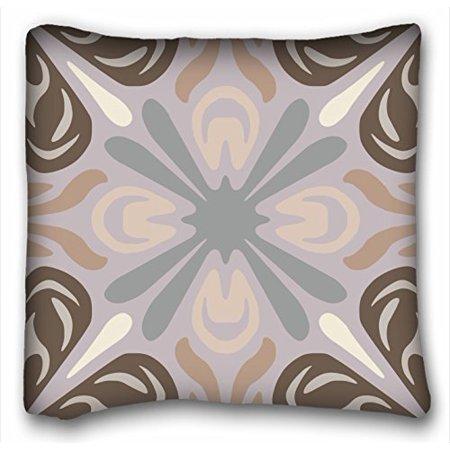WinHome Neutral Pattern In Grey Tan Brown Throw Pillow Case Cases Cover Cushion Covers Sofa Size 18x18 Inches Two Side