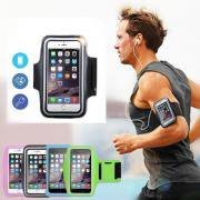 Jeobest 1PC Armband Cell Phone Holder - Sports Armband - Waterproof Large Running Armband Strap Protective Holder Pouch Case for Gym Running for iPhone 7 6 6S 7 Plus 6 Plus 6S Plus MZ (Black)