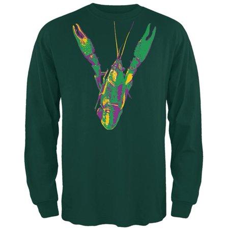 Mardi Gras Crawfish Mens Long Sleeve T Shirt