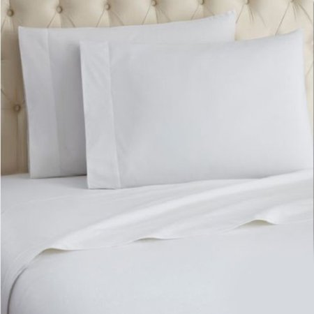 Ghp 12 Pcs White 90 X110 Queen Size Poly Cotton T 180 Percale Hotel Flat Sheets