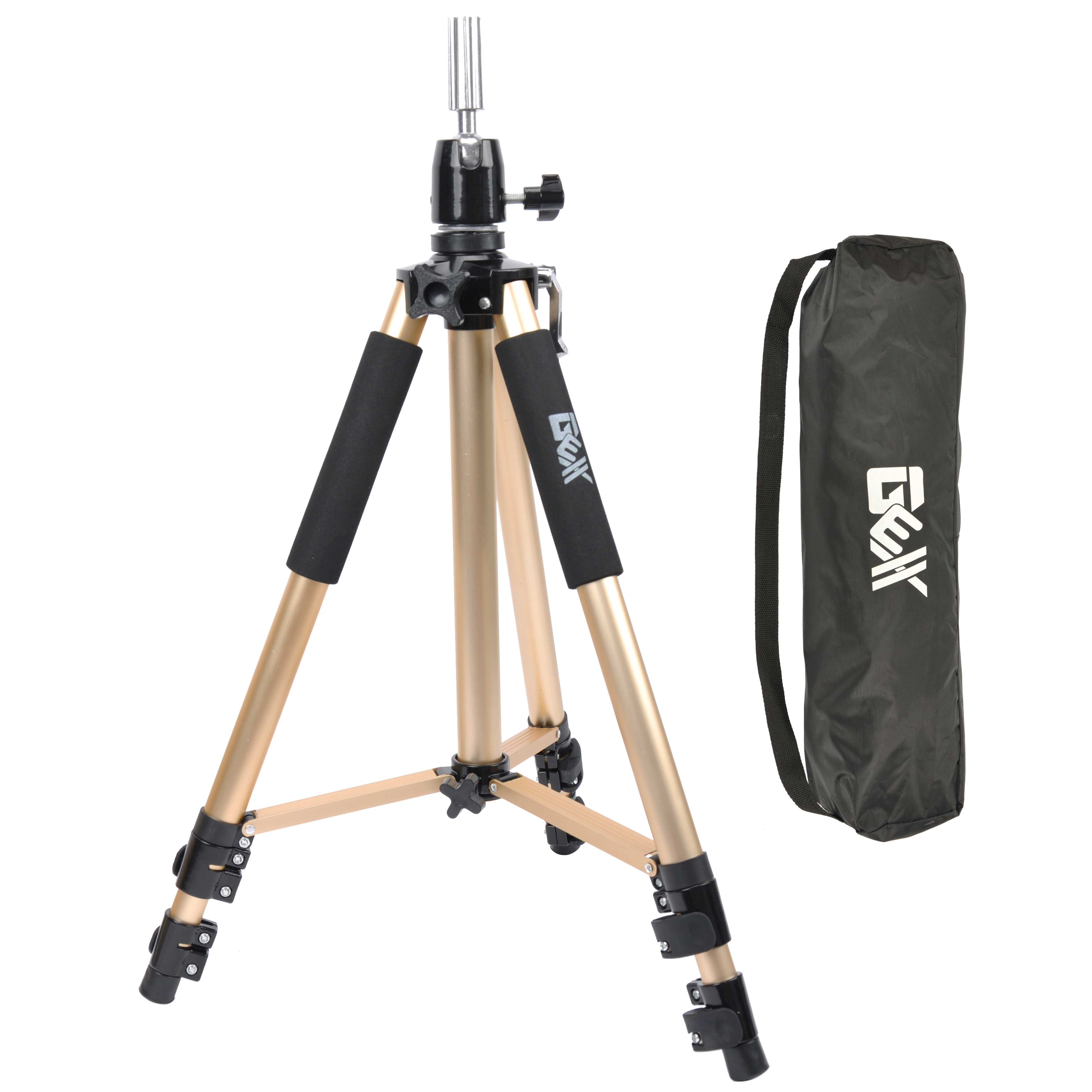 GEX Heavy Duty Canvas Block Head Tripod Cosmetology Train...