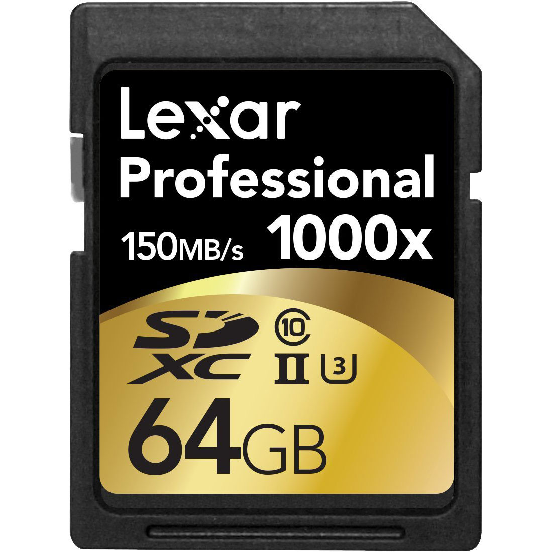 Lexar 1000x 64GB SDXC UHS-II/U3 Card (Up to 150MB/s read) w/Image Rescue 5 Software