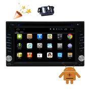 EinCar 6.2'' Car DVD Player with Android 5.1 System for Bluetooth Double 2 Din Car GPS Navigation with Built-in 3D Map in Dash Automotive Video Audio Radio for Hands-free Bluetooth Wifi