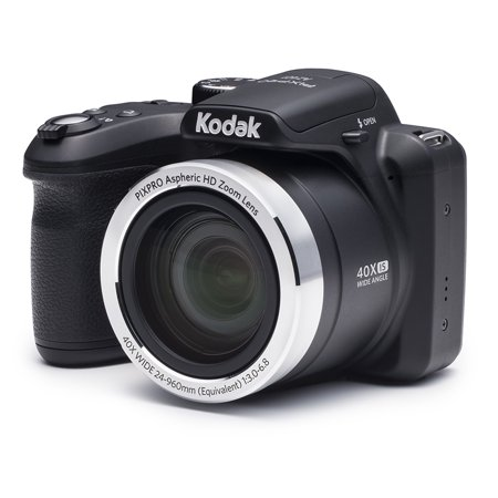 KODAK PIXPRO AZ401 Bridge Digital Camera - 16MP 40X Optical Zoom HD720p video (Black) (16mp Digital Camera)