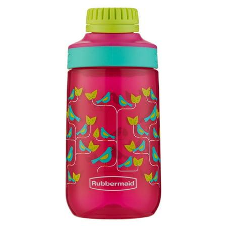 Rubbermaid 14 oz. Leak-Proof Chug Kids Water Bottle, Birds on Vine Graphic (Kids Water Bottles)