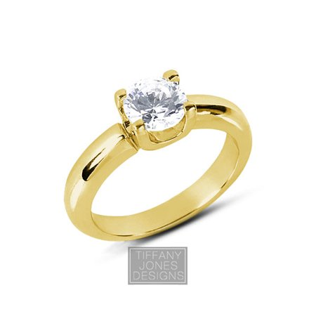 0.61ct D-SI2 Exc Round AGI Natural Diamond 18k Classic Engagement Ring 6.69 gram