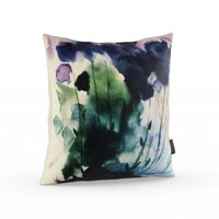 MoDRN Mid Century Palmhouse Watercolor Floral Decorative Throw Pillow, 20x20""