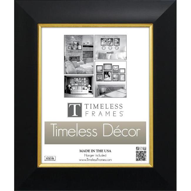 Timeless Frames 78596 Jordan Black Gold Wall Frame 16 X 20 In