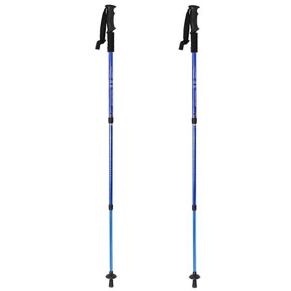 Trekking Hiking Poles Telescoping Walking Sticks Adjustable Ultralight 6061 Aluminum by